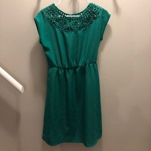 Emerald Crochet Top Dress